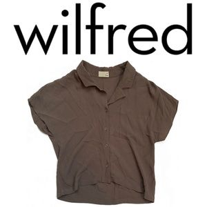 Wilfred Free Cropped Olive Grey Blouse